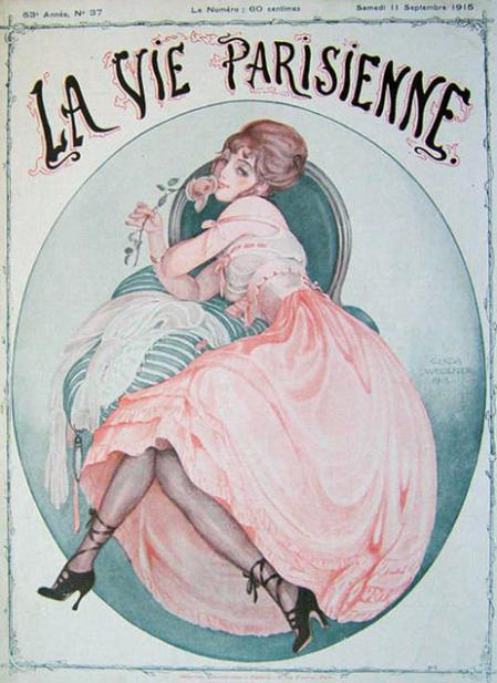 Gerda Wegener couverture la vie parisienne septermbre 1915