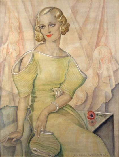 Gerda Wegener, Portrait of Eva Heramb_1934