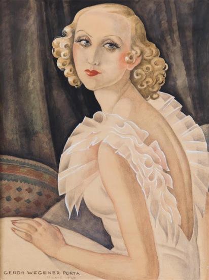 Gerda Wegener, Portrait of Maggi Baaring