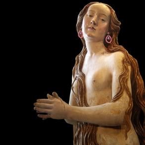 Santa María Magdalena, S. XVI, Gregor Erhart con pendientes de bisutería y vidrio